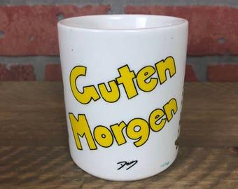 Vintage Ceramic Guten Morgen Coffee Mug
