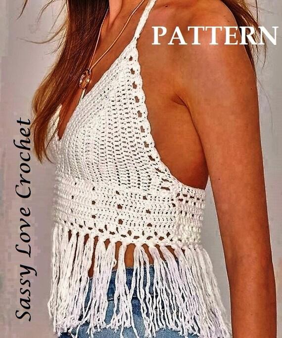 Crochet Halter Top Pattern Festival Halter Top Crop Top