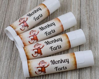 Monkey Farts Flavored Lip Balm - Handmade All Natural Lip Balm