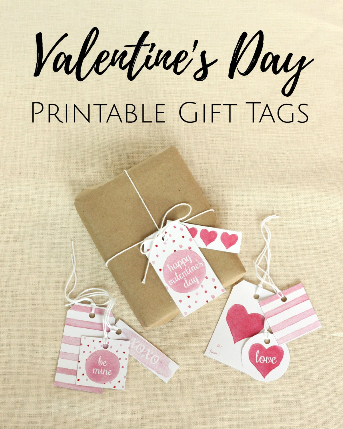 Valentine\'s Day Gift Tags Printable Gift Tags Favor Tag