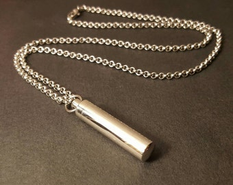 Stainless Steel Urn | Unisex Urn | Cremation Jewelry for Men | Mens Urn Jewelry | Urn Necklace | Ash Necklace | Urn Capsule