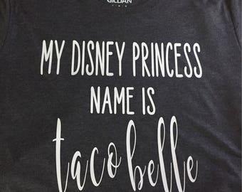 Womens taco princess tee