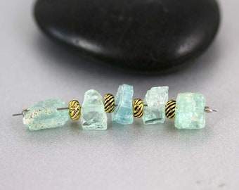 Emerald Crystal Beads - 6 to 7mm - Emerald Beads - Rough Crystals