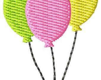 Balloons Machine Embroidery Mini Design