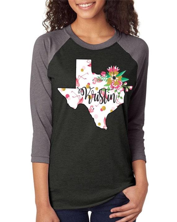 Texas Flamingo Tshirt / State Tshirt / Flamingo Tshirt / Floral Tshirt / State Floral Tshirt / Unisex Vneck Tshirt / Free Shipping 0i4rYcYp