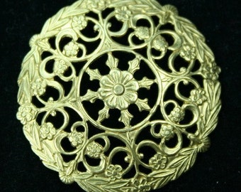 2pcs Filigree Stamping Round Dapt Frame Finding Victorian Baroque Premium Quality USA -G6701 - 2pcs