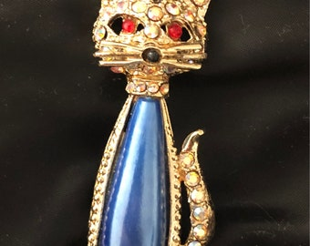 Jelly Belly Vintage Cat Brooch
