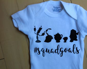 Beauty and the Beast Onesies®- Disney Onesies®- Squad goals Onesies®- Baby Disney trip - Gift for baby - Squad Goals - Cute Onesies®