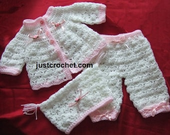 Coat, bloomers and hat Baby Crochet Pattern (DOWNLOAD) 19