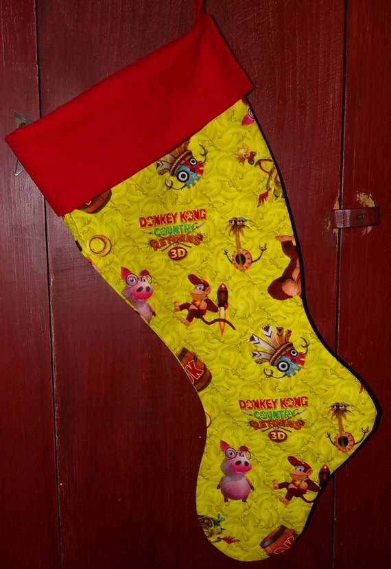 Donkey Kong Christmas Stocking