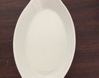 Vintage French Pillivut Au Gratin Dish White