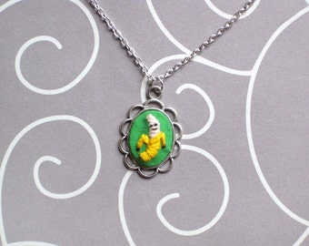 Mini Hand Embroidered Banana Necklace