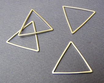 15mm Silver Triangle Link Charm Popular Link Modern Jewelry Supply Sale 10 pcs