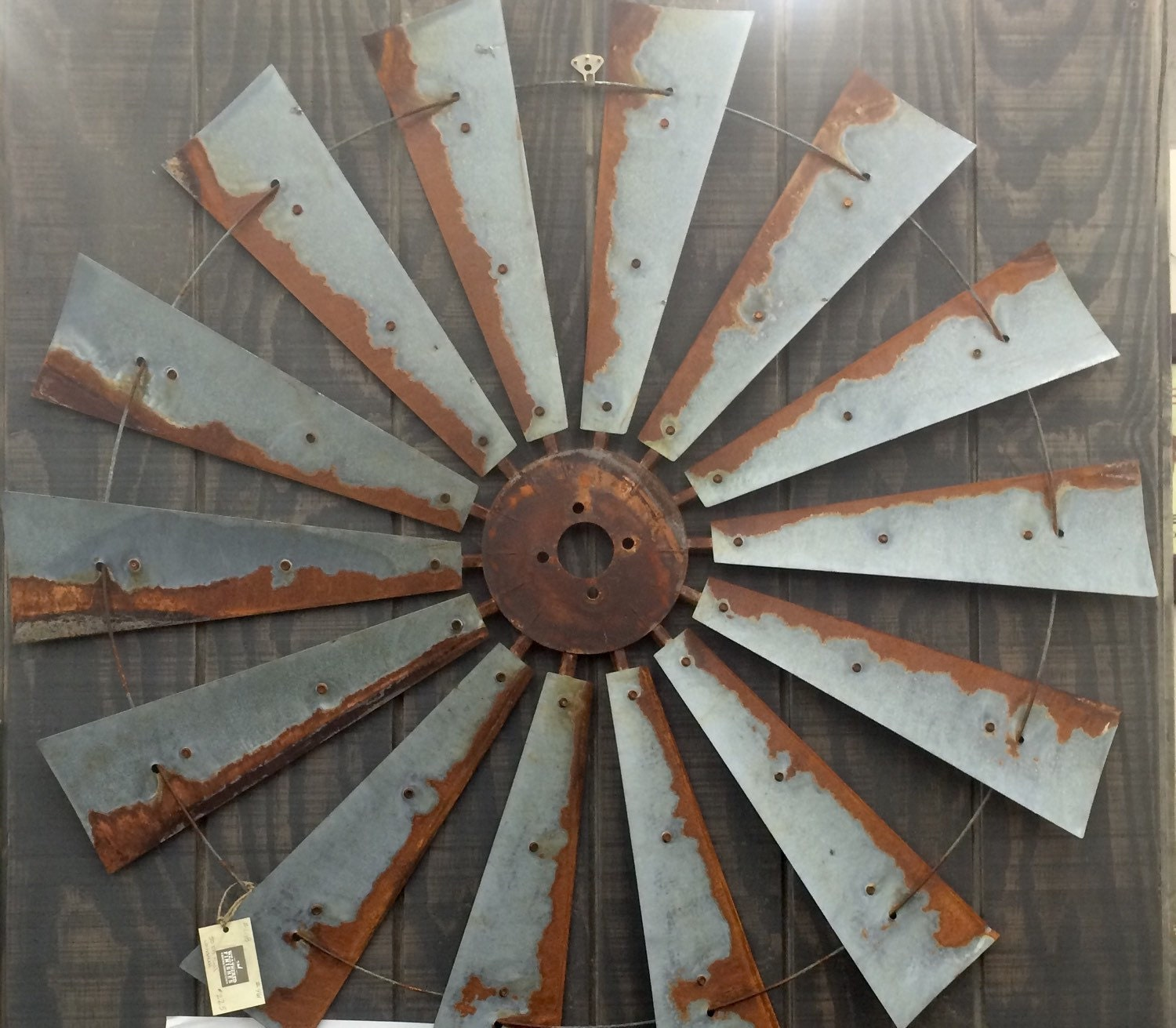 Farmhouse windmill metal wall decor 47 inch large wall zoom amipublicfo Gallery