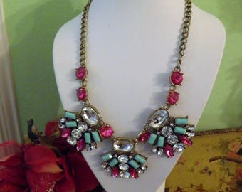 Spectacular Runway Statement Necklace.  Old Hollywood Glamour.