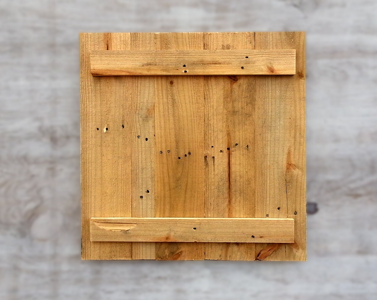 Blank Distressed Pallet Wood Panel Canvas From Rustic Recycled