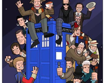 The Doctors and the Tardis.