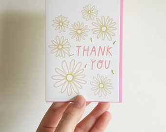 Thanks You! Sweet Thank You Card. Plants / Botanical.