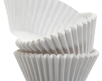 White Cupcake Liners - 50 Count
