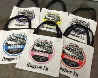 Birthday Cruise Hangover Kit Party Favor Custom Tote Gift Bag Recovery Kit