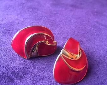 Red Vintage Earrings