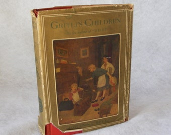 1924 Gritli's Children by Johanna Spyri Blue Ribbon Books A Story of Switzerland Vintage Hard Cover with Dust Jacket - 9611