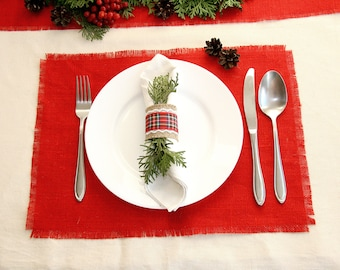 Christmas Placemats, Burlap Placemats, Christmas decor, Christmas table decor, Holiday Placemats, christmas decorations, christmas  runner