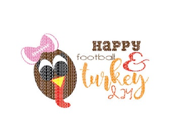 Happy Thanksgiving Svg - Turkey Svg - Thanksgiving Svg - Turkey Png - Thanksgiving Png - SIlhouette Cut File - DXF - Eps