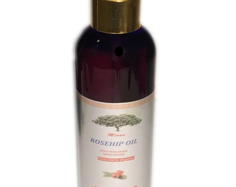 UNREFINED 8 Oz Cold Pressed ROSEHIP OIL 100%  Pure Rose Hip Oil Natural
