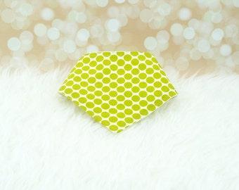 60% OFF SALE! Baby Bandana Drool Bib - Green Lotus Dots ||| bibdana, dribble bib, bandana bib sale, bibdanna, baby bibdana, baby shower