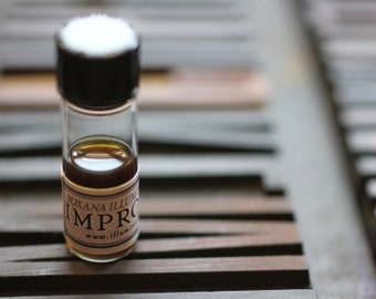Impromptu Botanical, Natural Perfume, 2014 edition - A faux leather fragrance with notes of spice, herb and wood - 1 gram in glass vial