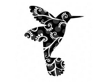 Hummingbird svg, png, pdf, bird svg, hummingbirds, svg files, flourish svg, vine svg, flowers, Honeysuckle svg, spring svg