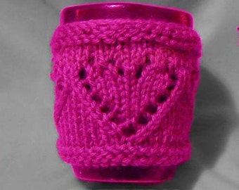4 Knitting Patterns: 2 Cup Cozies and 2 Headbands (INSTANT DOWNLOAD Knitting pattern)