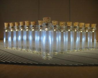 50 1.8ml Small Glass Bottles With Corks. Bitty Bottles. Miniature Bottles. Mini Vials. Earring Jewelry Necklace Craft Pendants. Mini Jars.