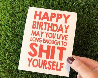 Sarcastic Birthday Card Funny Birthday Card for him Funny Bday Card Fun Birthday Card for Her Rude Birthday Card Getting Old Card Bday Card