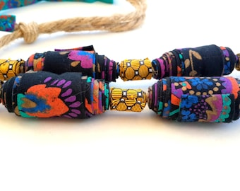 Extra large colorful necklace, extra lage necklace, colorful necklace, fiber jumbo necklace