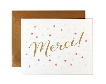 Merci Card, Thank You Card, French Card, Wedding Thank You, Wedding Card, Card Thank You, Cards Wedding, Card Merci, Thank You Birthday Card