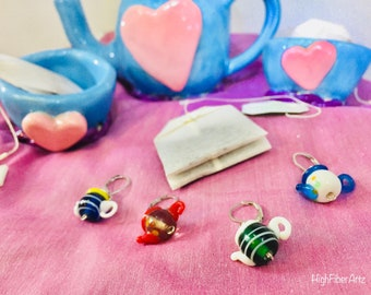 Tea Time Stitch Markers
