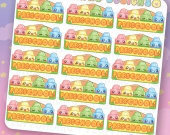 Preschool || Planner Stickers, Cute Stickers for Erin Condren (ECLP), Filofax, Kikki K, Etc. || DPS221