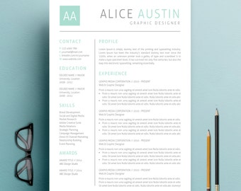 Teacher Resume Template   Cover Letter + Reference Letter for MS Word   Professioanl and Creative Resume Design   Mac or Pc   Teal