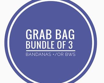 GRAB BAG (Bundle of 3 bandanas +/or bows - read item description!)
