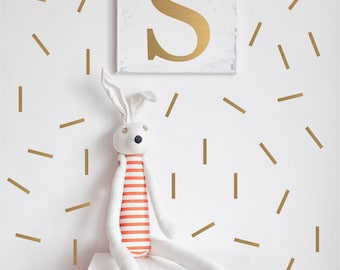 Gold Confetti Wall Decals // Peel and Stick Confetti // Nursery Wall Decals // Polka Dot Stickers // Playroom Art // Bedroom Wall Stickers
