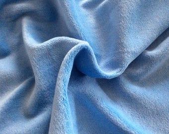 50 cm * 50 cm fabric light blue soft jersey