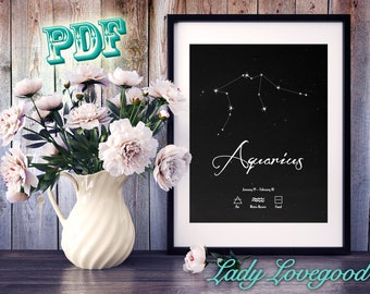 Aquarius Printable Art