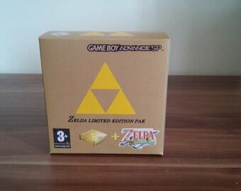 Gameboy Advance SP Classic Zelda Minish Cap Edition Repo Box Only