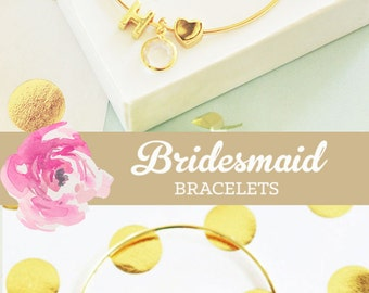 Bridesmaid Jewelry Bridesmaid Bracelet Bridesmaid Jewelry Set (EB3144WC) Initial Bracelet