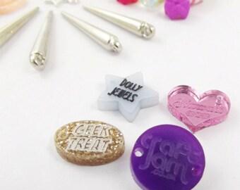 50 x (15MM) CUSTOM laser cut engraved jewellery tags