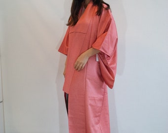 Pink kimono robe