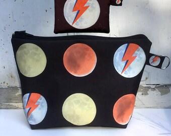 Aladdin Sane David Bowie Fan Art Zippered Bags by SBMathieu