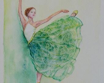 Ballerina watercolor, fashion art, ballerina painting, fashion illustration, Ballerina Watercolor Painting, ballet wall art, gift ideas, art